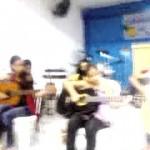 apresentação dos alunos do curso de violão