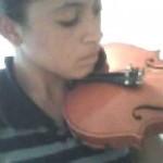 Minha primeira aula de violino!!!!