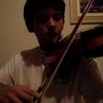 Kevin no violino ( 1ª vez...)