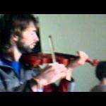 Aula de violino pai e filho