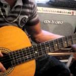 Professor Victor Góis, aula violão e guitarra, exercício dedos 1 e 2 com metrônomo