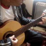 Professor Victor Góis, aula violão e guitarra, tristeza do jeca 1 (Geraldo aluno)